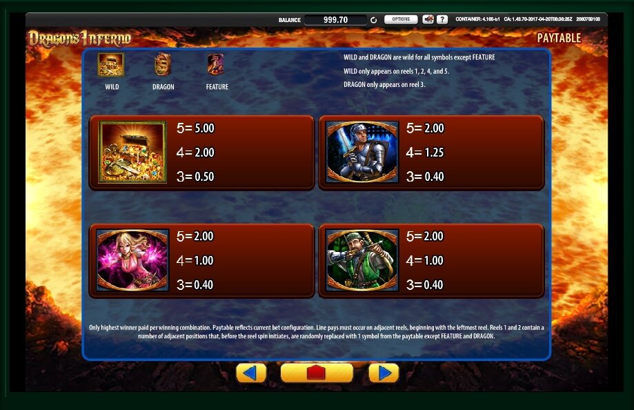 dragons inferno slot machine detail image 3