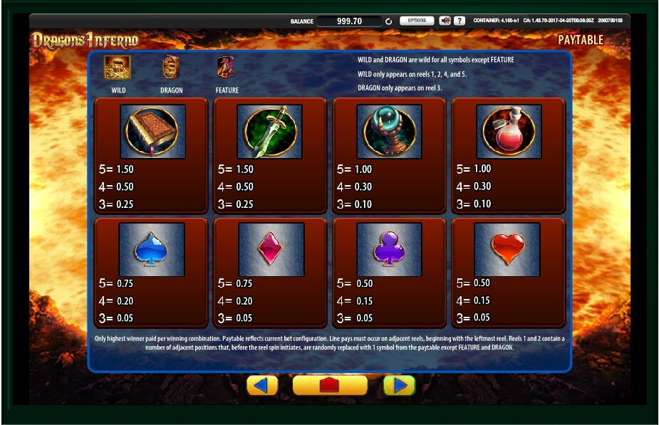 dragons inferno slot machine detail image 1