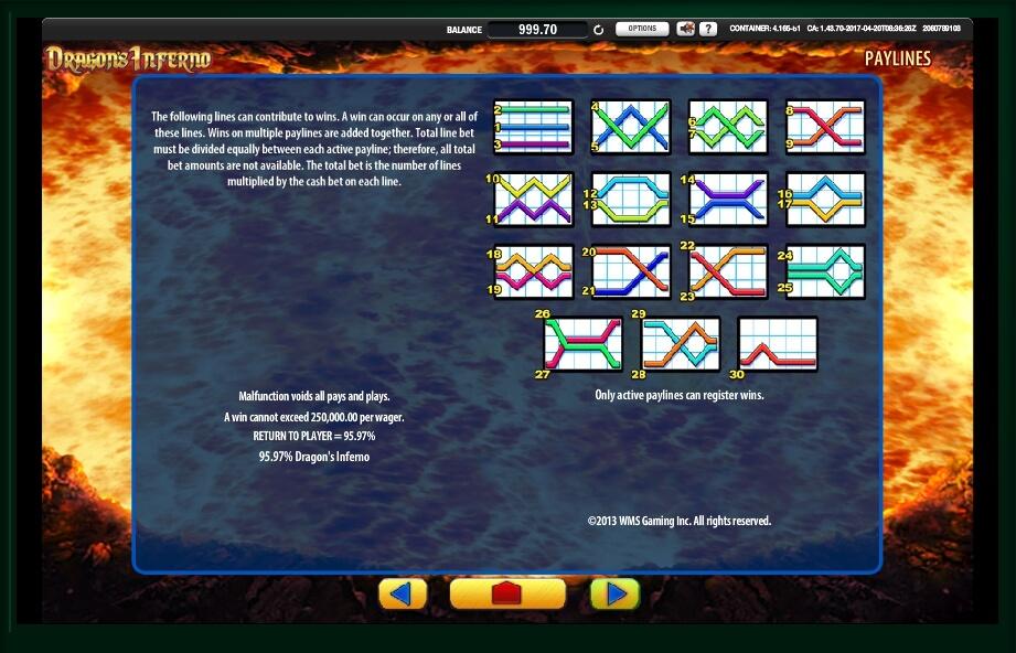 dragons inferno slot machine detail image 0