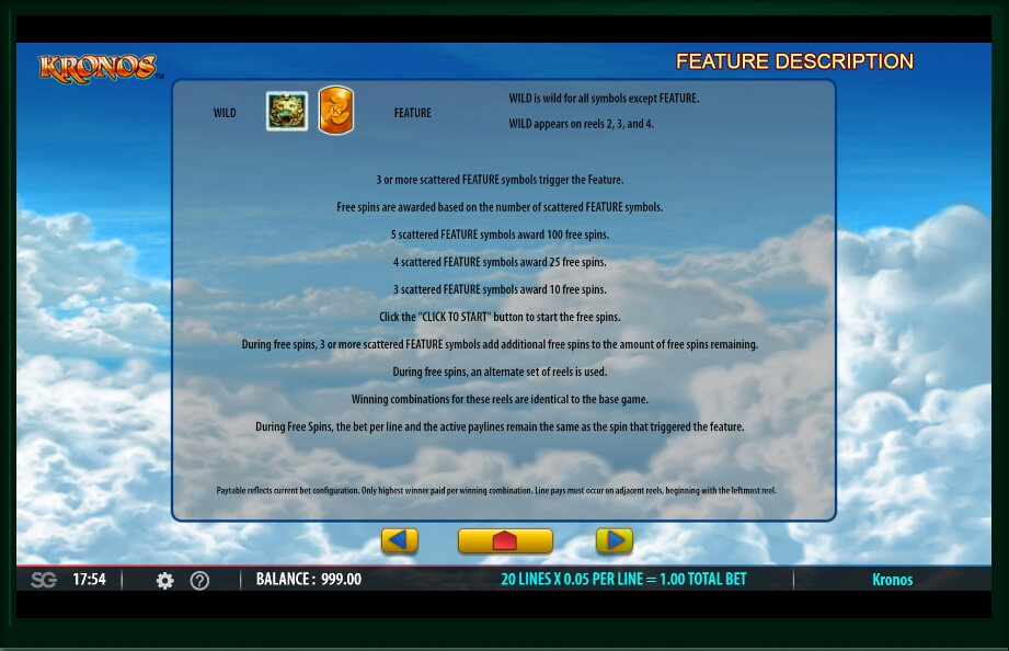 kronos slot slot machine detail image 1